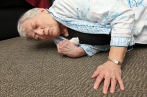 woman fall