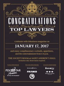 dbusiness top lawyers flyer